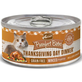 Merrick Purrfect Bistro Grain Free Shredded Thanksgiving Day Dinner Canned Cat Food 156g