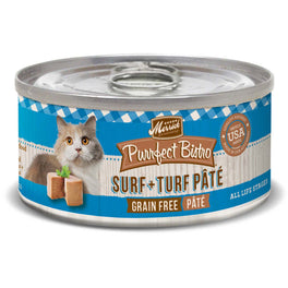 Merrick Purrfect Bistro Grain-Free Surf and Turf Pate Canned Cat Food 156g
