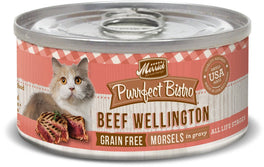 Merrick Purrfect Bistro Grain-Free Beef Wellington Morsels in Gravy Canned Cat Food 156g
