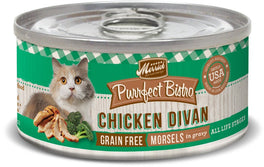 Merrick Purrfect Bistro Grain-Free Chicken Divan Morsels in Gravy Canned Cat Food 156g