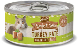 30% OFF: Merrick Purrfect Bistro Grain-Free Turkey Pate Canned Cat Food 156g (Exp Sep 19)