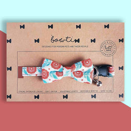 Bowtix Handmade Dog Collar With Removable Bowtie - Merry Sundew