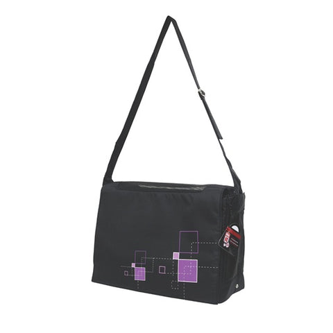 Dogit Style Nylon Messenger Dog Carry Bag - Argyle Black - Kohepets