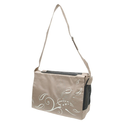 Dogit Style Nylon Messenger Dog Carry Bag - Butterfly Beige - Kohepets