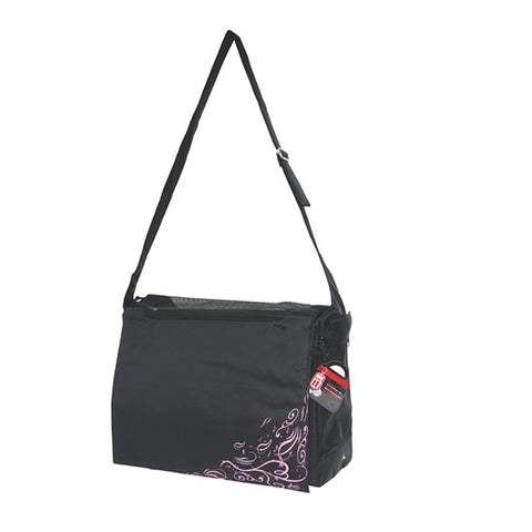 Dogit Style Nylon Messenger Dog Carry Bag - Urban Black - Kohepets