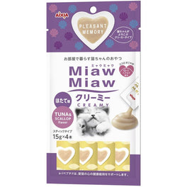 15% OFF: Aixia Miaw Miaw Creamy Tuna & Scallop Cat Treat 60g (Exp Jan 19)