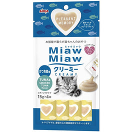 50% OFF: Aixia Miaw Miaw Creamy Tuna & Smoked Tuna Cat Treat 60g (Exp 12 Dec 18)