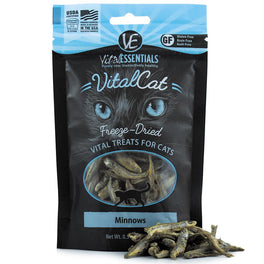 25% OFF: Vital Essentials Freeze-Dried Minnows Vital Cat Treats 0.5oz
