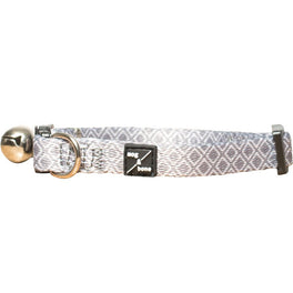 Mog & Bone Cat Collar - Grey Ikat