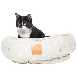 Mog & Bone Four Seasons Reversible Cat Bed - Oatmeal Cross