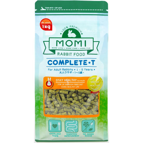 Momi Complete-T Adult Rabbit Food 1kg - Kohepets