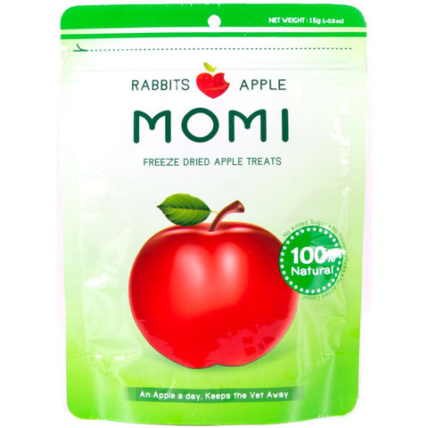 Momi Freeze Dried Apple Rabbit Treats 15g - Kohepets