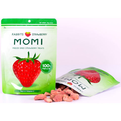 Momi Freeze Dried Strawberry Rabbit Treats 15g - Kohepets