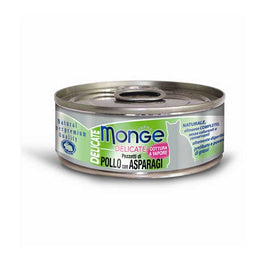 Monge Delicate Chicken with Asparagus Canned Cat Food 80g