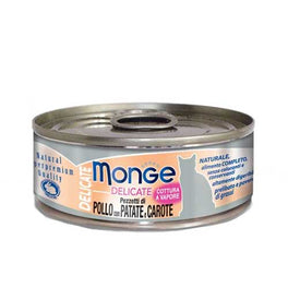 Monge Delicate Chicken with Potato and Carrot Canned Cat Food 80g