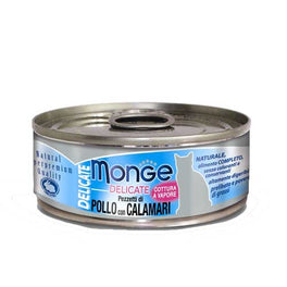 Monge Delicate Chicken with Squid Canned Cat Food 80g