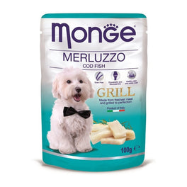 Monge Grill Cod Fish Pouch Dog Food 100g