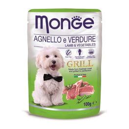Monge Grill Lamb & Vegetables Pouch Dog Food 100g