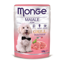 Monge Grill Pork Pouch Dog Food 100g