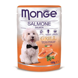 Monge Grill Salmon Pouch Dog Food 100g