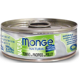 Monge Natural Yellowfin Tuna with Chicken Canned Cat Food 80g