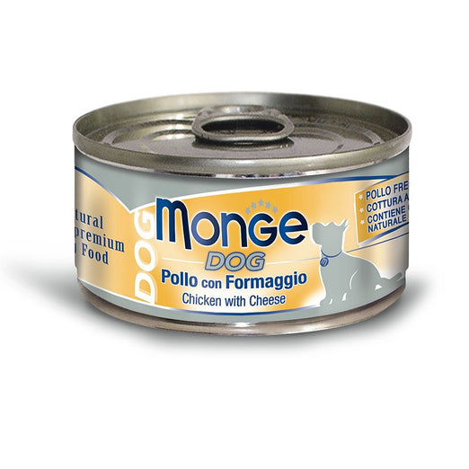 10% OFF: Monge Chicken with Cheese Canned Dog Food 95g