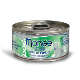 Monge Chicken with Vegetables Canned Dog Food 95g