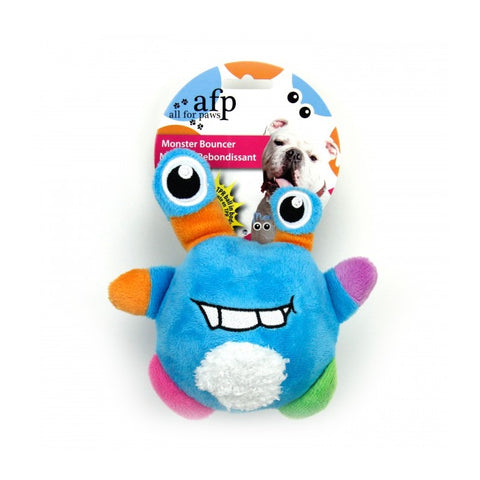 All For Paws Monster Plush Bouncer Assorted Dog Toy