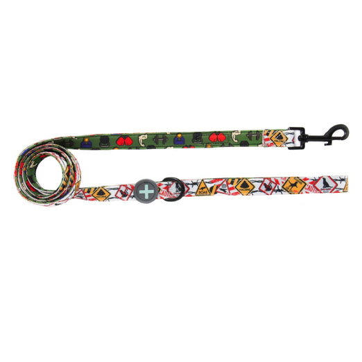 Moo+Twig Barbed Bells Two-Faced Neoprene Handle Dog Leash