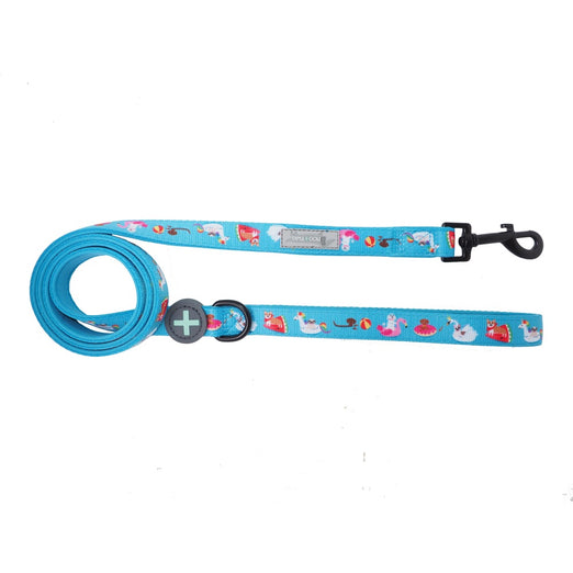 Moo+Twig Pool Pawty Two-Faced Neoprene Handle Dog Leash - Kohepets