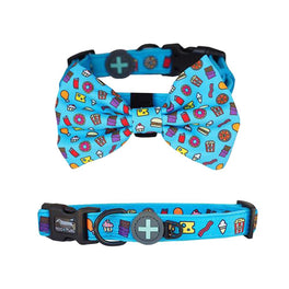 Moo+Twig Snack Attack Removable Dog Collar and Bowtie