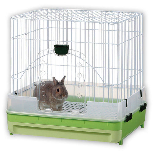Marukan Rabbit Cage With Pull Out Tray In Green - Kohepets