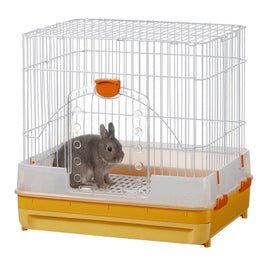 Marukan Rabbit Cage With Pull Out Tray In Orange