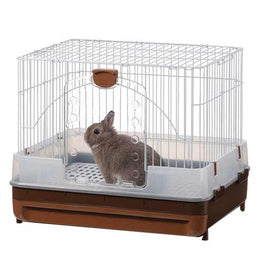 Marukan Rabbit Cage With Pull Out Tray In Brown