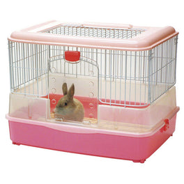 Marukan Rabbit Cage In Pink