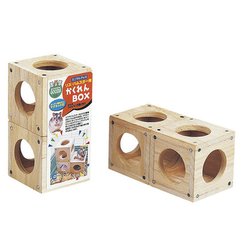 Marukan Wooden Hiding Box for Hamsters - Kohepets