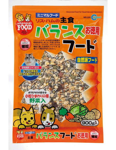 Marukan Balanced Food for Squirrels & Hamsters 900g