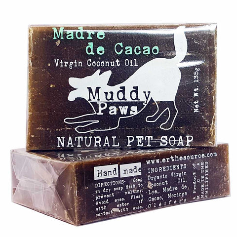 Muddy Paws Natural Madre de Cacao Soap 135g - Kohepets