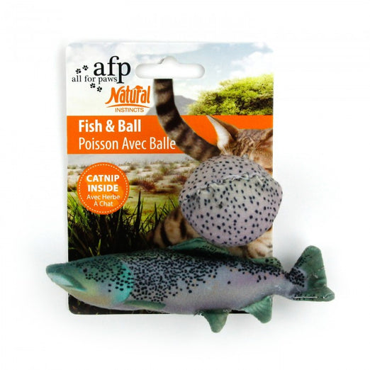 All For Paws Natural Instincts Fish & Ball Cat Toy - Kohepets