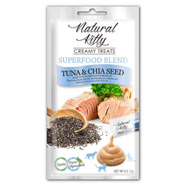 3 FOR $11: Natural Kitty Superfood Blend Tuna & Chia Seed Creamy Liquid Cat Treats 48g
