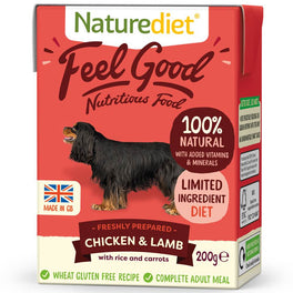 'BUY 2 GET 1 FREE': Naturediet Feel Good Chicken & Lamb With Rice & Carrots Wet Dog Food 200g (LIMITED TIME)