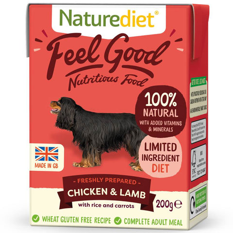 Naturediet Feel Good Chicken & Lamb Wet Dog Food 200g - Kohepets