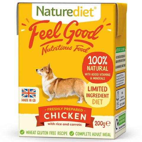 'BUY 2 GET 1 FREE': Naturediet Feel Good Chicken With Rice & Carrots Wet Dog Food 200g