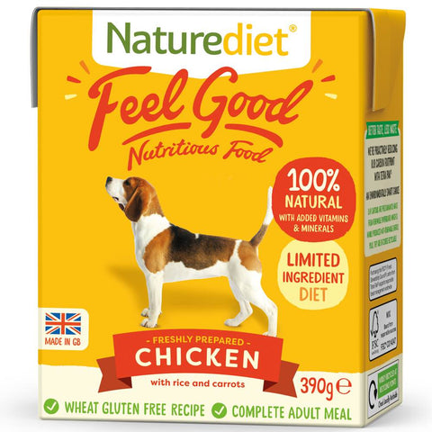 Naturediet Feel Good Chicken Wet Dog Food 390g - Kohepets
