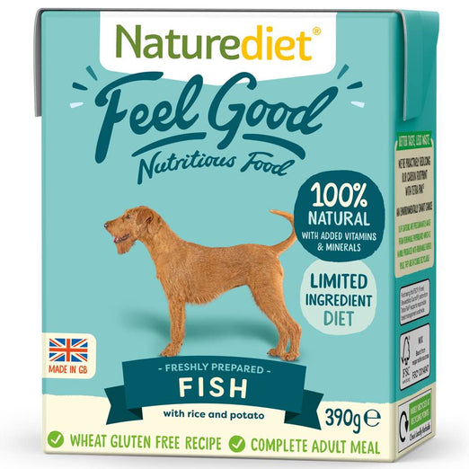 20% OFF: Naturediet Feel Good Fish Wet Dog Food 390g - Kohepets