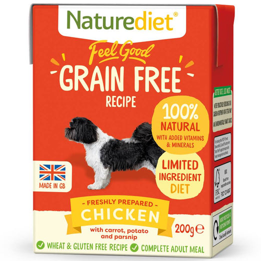 20% OFF(Exp Apr 21): Naturediet Feel Good Grain Free Chicken Wet Dog Food 200g - Kohepets