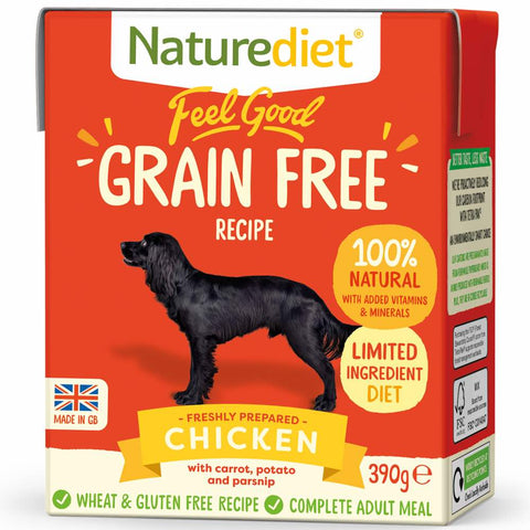 20% OFF: Naturediet Feel Good Grain Free Chicken Wet Dog Food 390g - Kohepets