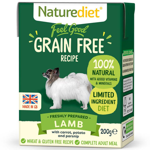Naturediet Feel Good Grain Free Lamb Wet Dog Food 200g - Kohepets