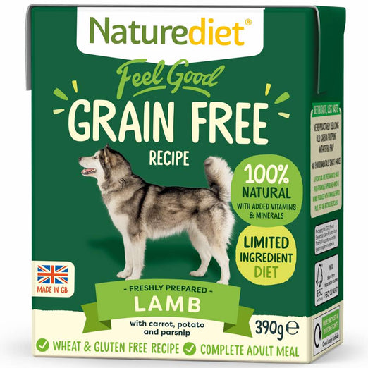 20% OFF(Exp Mar 21):Naturediet Feel Good Grain Free Lamb Wet Dog Food 390g - Kohepets