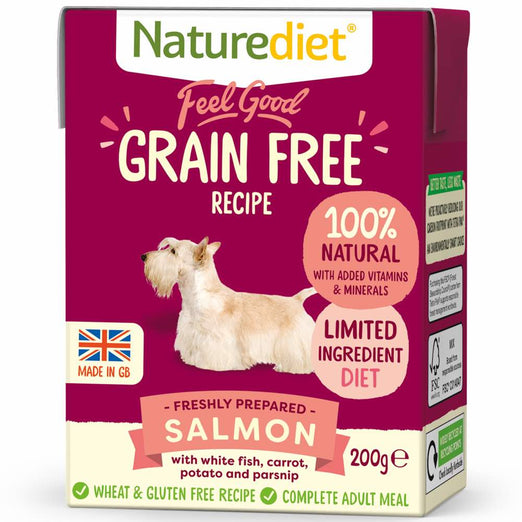 20% OFF: Naturediet Feel Good Grain Free Salmon Wet Dog Food 200g - Kohepets